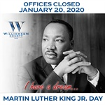 County Offices Closed for MLK Day