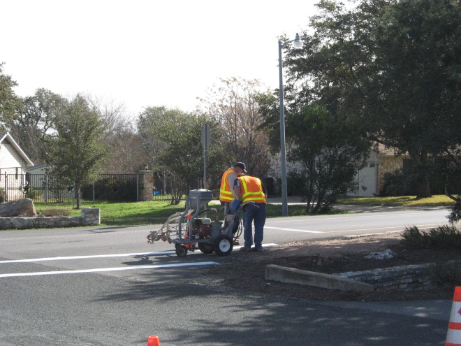 Restriping a Crosswalk